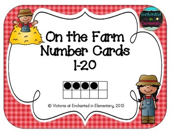 On the Farm Number Cards 1-20