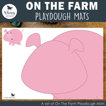 On the Farm Playdough Mats