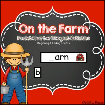 On the Farm Pocket Chart or Magnetic Letter Activities