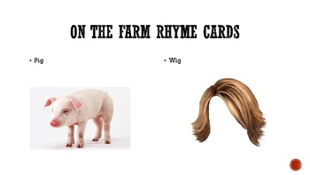On the Farm Rhyme Cards