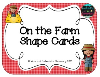 On the Farm Shape Cards
