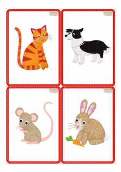 On the Farm Flashcards / Vocabulary cards / Picture Cards - SMALL