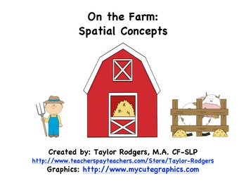 On the Farm: Spatial Concepts