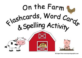 On the Farm Spelling Activities & Worksheet
