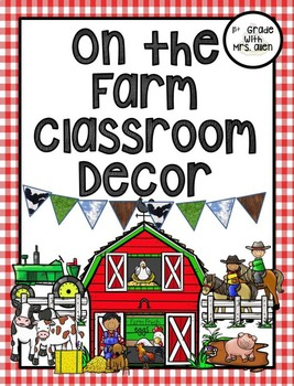 On the Farm Table Number and Classroom Area Signs
