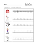 On the Farm Trace the Beginning Sounds Worksheets Preschoo