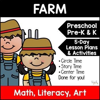 On the Farm Unit Plan for Preschool, PreK, K & Homeschool