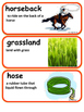 ReadyGen On the Farm Vocabulary Word Wall  2nd grade Unit1