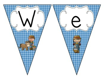 On the Farm Welcome Pennant: Blue Set
