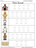 On the Farm Write / Stamp the Room Spelling Vocabulary Game