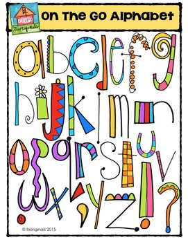 On the Go Alphabet {P4 Clips Trioriginals Digital Clip Art}