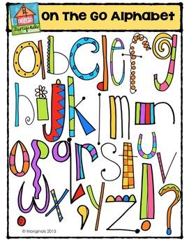 On the Go Alphabet {P4 Clips Trioriginals Digital Clip Art}