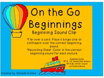 On the Go Beginning Sound Clip (CCSS)