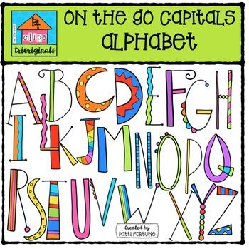 On the Go Capitals Alphabet {P4 Clips Trioriginals Digital Clip Art}