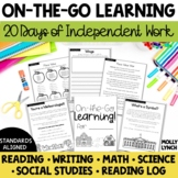 At Home and On the Go Learning - 20 Days of Curriculum for