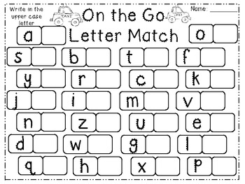 On the Go Transportation Math & Literacy Pack