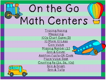 On the Go Transportation Math Pack