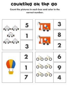 On the Go Transportation Preschool Summer Packet