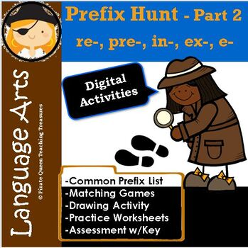 On the Hunt for Prefixes Part 2/ re-, pre-, in-, ex-, e-.