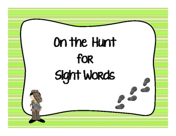 On the Hunt for Sight Words-aligned with CCSS