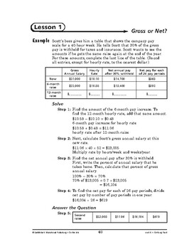 On the Job Math: Getting Paid-Gross or Net?