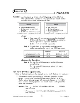 On the Job Math: Getting Paid-Paying Bills