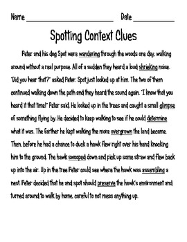 On the Lookout for Context Clues {Posters, Thesaurus, Comprehension, & Game!}