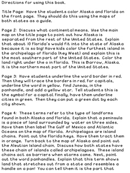 On the Map:  Comparing Florida and Alaska Through Maps {Wonders Grd. 2 Unit 4.1}