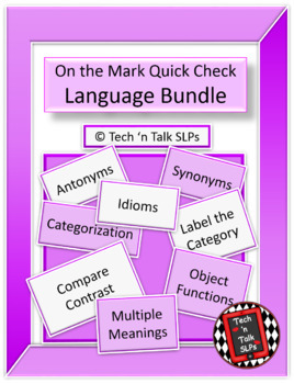On the Mark Quick Check Language Bundle