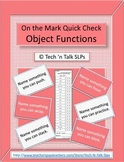 On the Mark Quick Check Object Functions