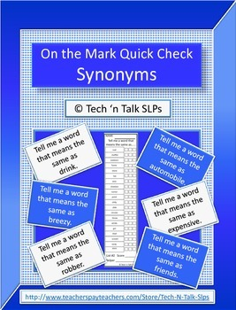 On the Mark Quick Check Synonyms