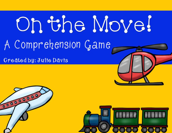 On the Move! Comprehension Game Kindergarten
