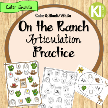 On the Ranch No Prep Articulation Practice - Later Sounds