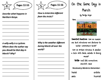 On the Same Day in March Trifold - ReadyGen 2016 3rd Grade