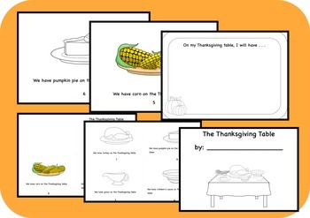 On the Thanksgiving Table Book Activity