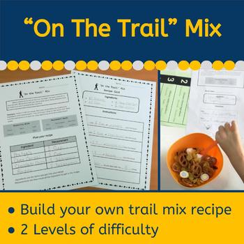 """On the Trail"" Mix - Detective Themed Recipe Activity"