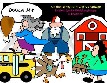 On the Turkey Farm Clipart Pack