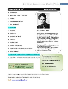 On the Waterfront film Elia Kazan Questions & Answers