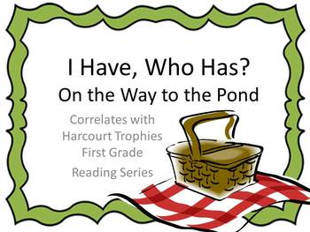 """On the Way to the Pond """"I HAVE, WHO HAS?"""" Sight Word Practice Harcourt Trophies"""