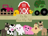 On the farm Clip Art Set, Separate PNG files, High Resolution.