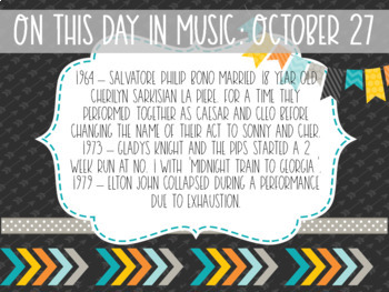 On this Day in Music History October