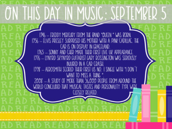 On this Day in Music History September
