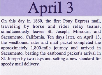 On this day in history- April addition