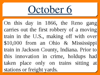 On this day in history- October addition