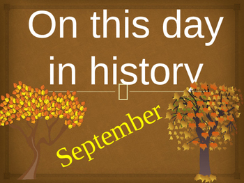 On this day in history- September addition