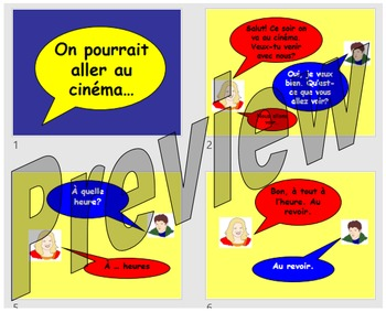 On va aller au cinema - making arrangements to go out