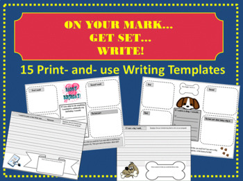 On your Mark...Get Set...WRITE! 15 Complete Writing Prompt