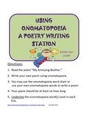 Onamatopoeia Poetry Writing Station, Figurative Language