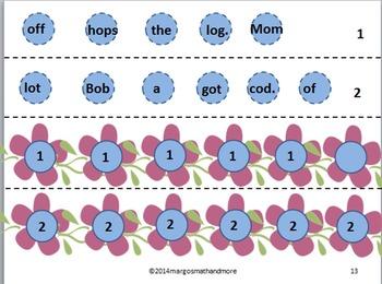 Once Upon A Vine Sentence Builder Vol. I Short Vowels