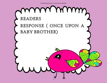 Once Upon a Baby Brother - Tri-folds + Activities ( 2nd Grade Reading Wonders)